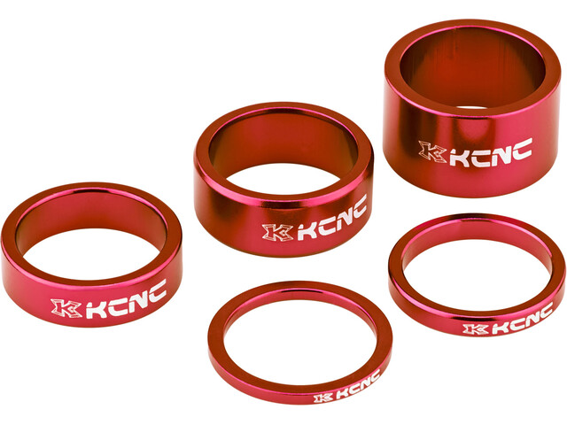 "KCNC Headset Spacer 1 1/8"" 3/5/10/14/20mm rot"